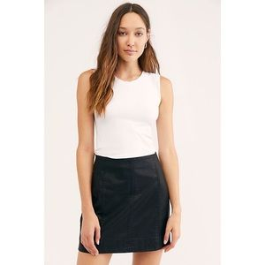 Free People Modern Femme Vegan Leather Mini Skirt